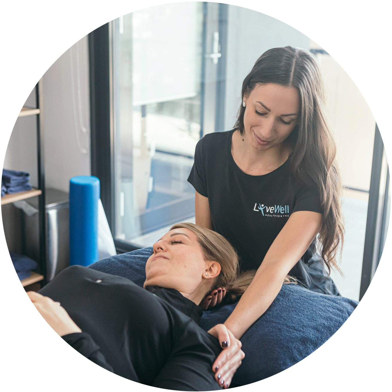 Osteopath and Client